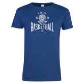 Ladies Royal T Shirt-Basketball Design