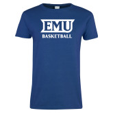 Ladies Royal T Shirt-EMU Basketball