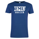 Ladies Royal T Shirt-EMU Soccer