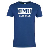 Ladies Royal T Shirt-EMU Baseball