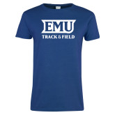 Ladies Royal T Shirt-EMU Track & Field