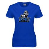 Ladies Royal T Shirt-EMU w/ Full Lion