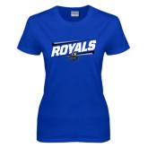 Ladies Royal T Shirt-Royals Slanted w/ Logo