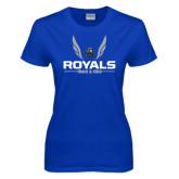 Ladies Royal T Shirt-Royals Track & Field w/ Wings