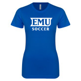 Next Level Ladies SoftStyle Junior Fitted Royal Tee-EMU Soccer