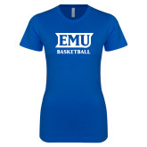 Next Level Ladies SoftStyle Junior Fitted Royal Tee-EMU Basketball
