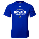 Under Armour Royal Tech Tee-Royals Baseball Stacked w/ Seams
