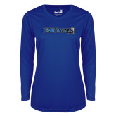 Ladies Syntrel Performance Royal Longsleeve Shirt-Institutional Logos