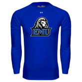 Under Armour Royal Long Sleeve Tech Tee-EMU w/ Lion Head