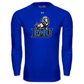 Under Armour Royal Long Sleeve Tech Tee-EMU w/ Full Lion