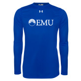 Under Armour Royal Long Sleeve Tech Tee-Institutional Logos