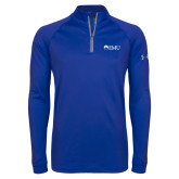 Under Armour Royal Tech 1/4 Zip Performance Shirt-Institutional Logos