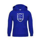 Youth Royal Fleece Hoodie-Soccer Shield