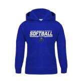 Youth Royal Fleece Hoodie-Softball Stencil