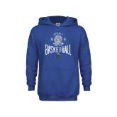 Youth Royal Fleece Hoodie-Basketball Design
