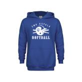 Youth Royal Fleece Hoodie-Softball Design