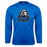 Performance Royal Longsleeve Shirt-EMU w/ Lion Head