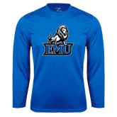 Performance Royal Longsleeve Shirt-EMU w/ Full Lion
