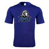Performance Royal Heather Contender Tee-EMU w/ Lion Head