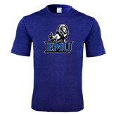 Performance Royal Heather Contender Tee-EMU w/ Full Lion