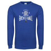 Royal Long Sleeve T Shirt-Basketball Design