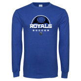 Royal Long Sleeve T Shirt-Soccer Design