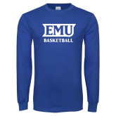 Royal Long Sleeve T Shirt-EMU Basketball