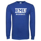 Royal Long Sleeve T Shirt-EMU Baseball