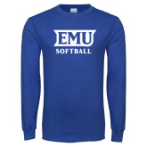 Royal Long Sleeve T Shirt-EMU Softball
