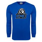 Royal Long Sleeve T Shirt-EMU w/ Lion Head