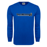 Royal Long Sleeve T Shirt-Eastern Mennonite University Flat