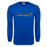 Royal Long Sleeve T Shirt-Eastern Mennonite University Flat