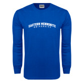 Royal Long Sleeve T Shirt-Eastern Mennonite University Arched