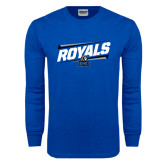Royal Long Sleeve T Shirt-Royals Slanted w/ Logo