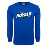 Royal Long Sleeve T Shirt-Royals Slanted w/ Logo