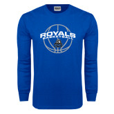 Royal Long Sleeve T Shirt-Royals Basketball Arched w/ Ball