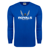 Royal Long Sleeve T Shirt-Royals Track & Field w/ Wings