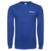Royal Long Sleeve T Shirt-Institutional Logos
