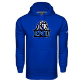 Under Armour Royal Performance Sweats Team Hoodie-EMU w/ Lion Head