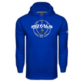 Under Armour Royal Performance Sweats Team Hoodie-Royals Basketball Arched w/ Ball