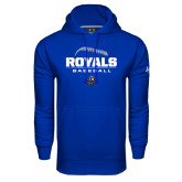 Under Armour Royal Performance Sweats Team Hoodie-Royals Baseball Stacked w/ Seams