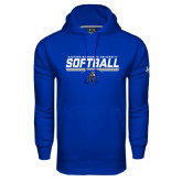 Under Armour Royal Performance Sweats Team Hoodie-Softball Stencil