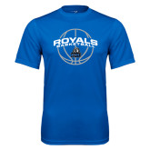 Syntrel Performance Royal Tee-Royals Basketball Arched w/ Ball