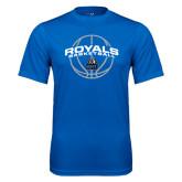 Performance Royal Tee-Royals Basketball Arched w/ Ball