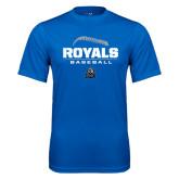 Performance Royal Tee-Royals Baseball Stacked w/ Seams