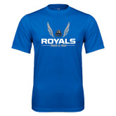 Performance Royal Tee-Royals Track & Field w/ Wings