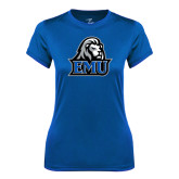 Ladies Syntrel Performance Royal Tee-EMU w/ Lion Head