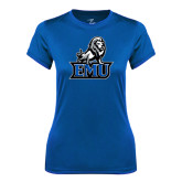 Ladies Syntrel Performance Royal Tee-EMU w/ Full Lion