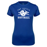 Ladies Syntrel Performance Royal Tee-Softball Design