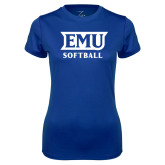 Ladies Syntrel Performance Royal Tee-EMU Softball